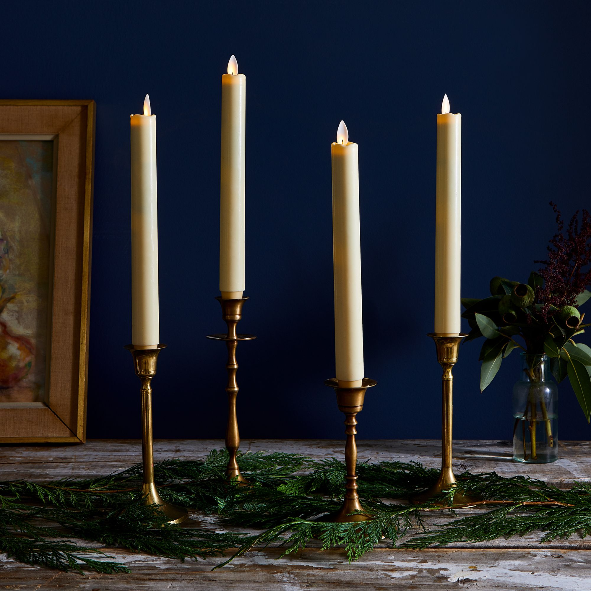 Sterno Home Flameless Taper Candles, Set of 4 on Food52